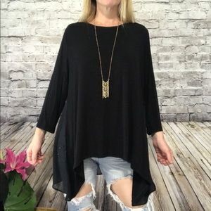 ‼️Lane Bryant Solid Black Tunic Size 14-16‼️